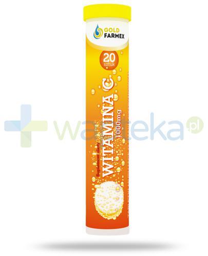 GoldFarmex witamina C 1000mg o smaku cytrynowym 20 tabletek