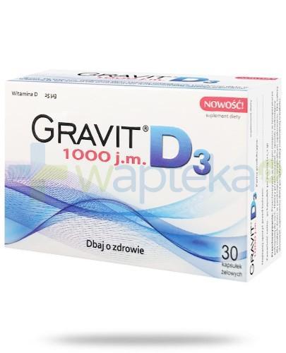 Gravit D3 1000 witamina D 30 kapsułek - Krótka data ważności 30-01-2017