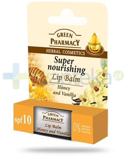 Green Pharmacy balsam do ust intensywnie odżywczy SPF10 miód wanilia 3,6 g Elfa Pharm