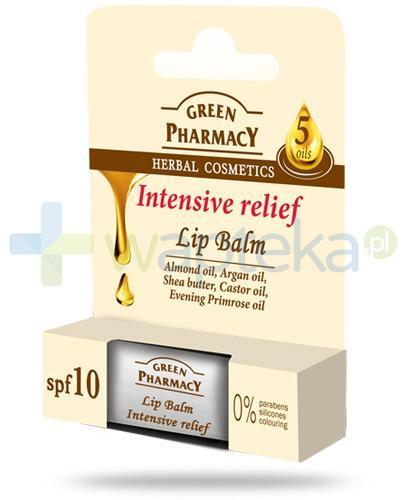 Green Pharmacy balsam do ust intensywnie zmiękczający na bazie 5 olejów SPF10 3,6 g Elfa Pharm