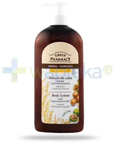 Green Pharmacy Body Care balsam do ciała owies i olej macadamia łagodzący z efektem nawilżania 500 ml Elfa Pharm