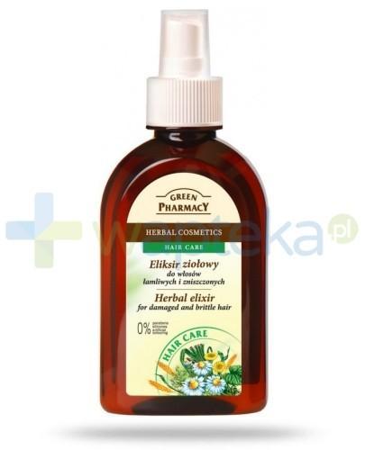 Green Pharmacy Eliksir ziołowy do włosów łamliwych zniszczonych i farbowanych 250 ml Elfa Pharm