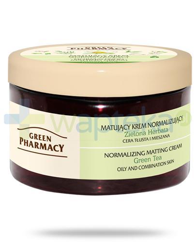 Green Pharmacy Herbal Care matujący krem normalizujący Zielona herbata 150 g Elfa Pharm