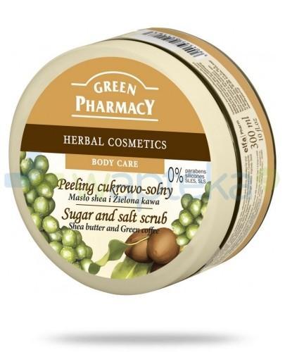 Green Pharmacy Peeling cukrowo solny Masło shea i Zielona kawa 300 ml Elfa Pharm