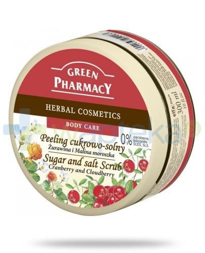 Green Pharmacy Peeling cukrowo solny Żurawina i Malina moroszka 300 ml Elfa Pharm