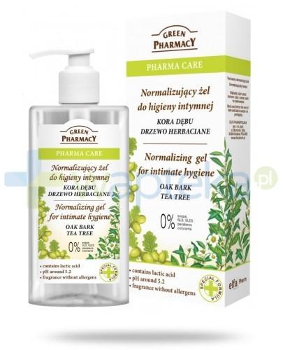 Green Pharmacy Pharma Care Kora Dębu Drzewo Herbaciane normalizujący żel do higieny intymnej 300 ml Elfa Pharm
