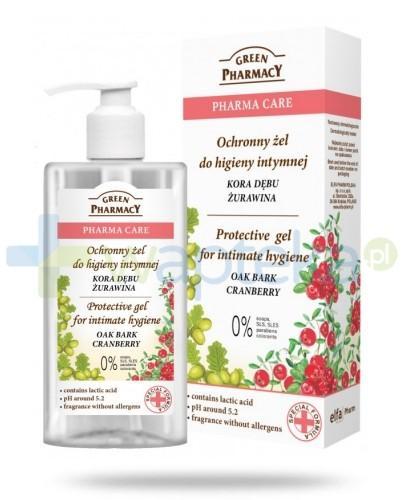 Green Pharmacy Pharma Care Kora Dębu Żurawina ochronny żel do higieny intymnej 300 ml Elfa Pharm
