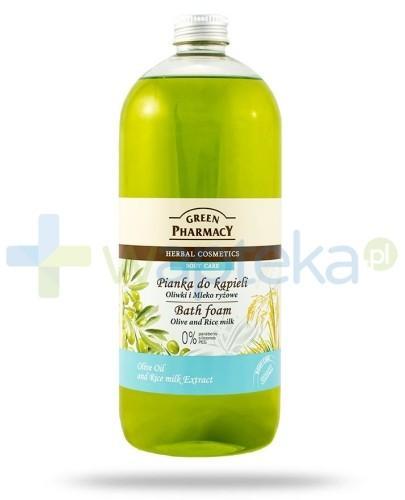 Green Pharmacy Pianka do kąpieli oliwki mleko ryżowe 1000 ml Elfa Pharm