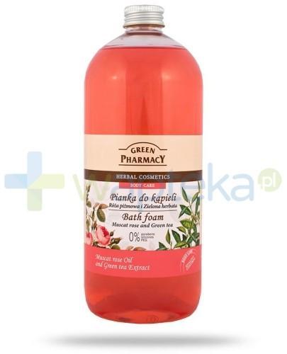 Green Pharmacy Pianka do kąpieli Róża Piżmowa i Zielona Herbata 1000 ml Elfa Pharm