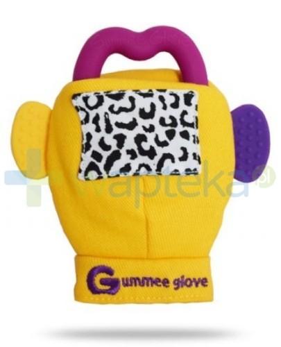 Gummee Glove rękawiczka z gryzakiem 3m+ kolor żółty
