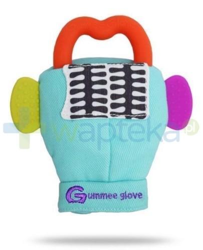 Gummee Glove rękawiczka z gryzakiem 3m+ kolor turkusowy