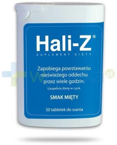 Hali-Z tabletki do ssania smak mięty 50 sztuk