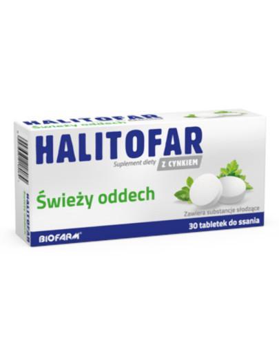 Halitofar z cynkiem Świeży oddech 30 tabletek