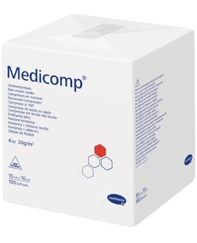 Hartmann Medicomp kompresy niejałowe z włókniny 10cm x 10cm 100 sztuk