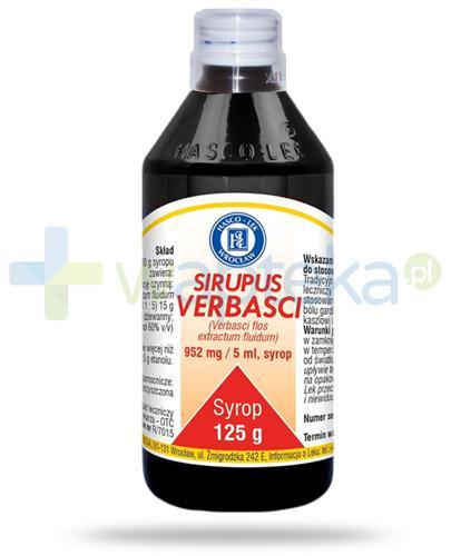 Hasco Sirupus Verbasci 952mg/5ml, syrop 125 g