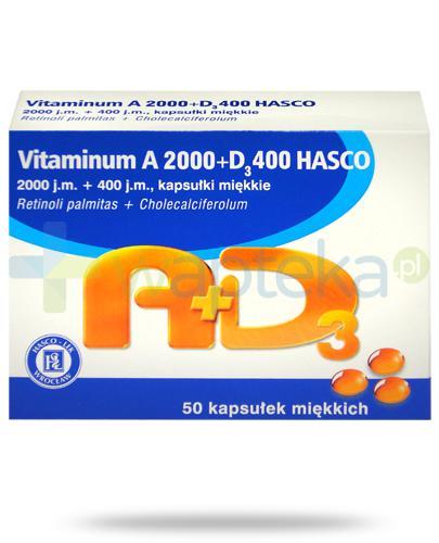Hasco vitaminum A 2000 + D3 400 50 kapsułek