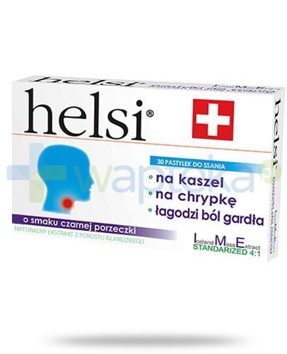 Helsi ekstrakt z porostu islandzkiego o smaku czarnej porzeczki 30 pastylek