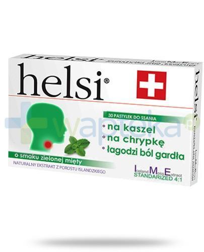 Helsi ekstrakt z porostu islandzkiego o smaku zielonej mięty 30 pastylek