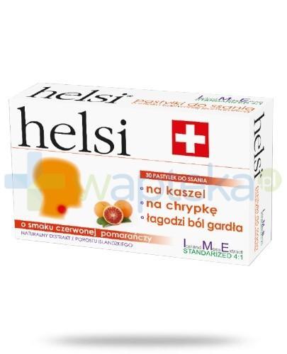 Helsi ekstrakt z porostu islandzkiego o smaku czerwonej pomarańczy 30 pastylek