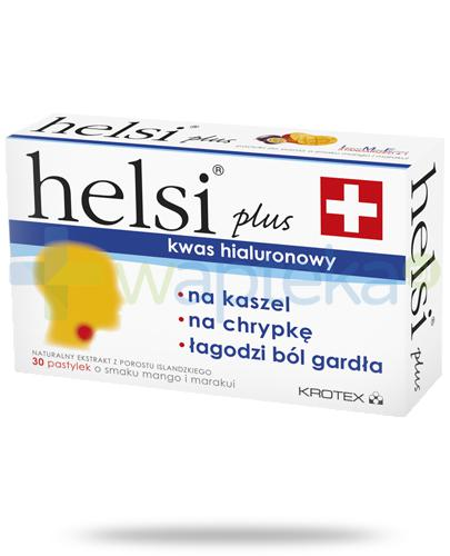 Helsi Plus ekstrakt z porostu islandzkiego o smaku mango i marakui 30 pastylek