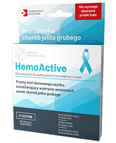 HemoActive test do wykrywania krwi utajonej w kale 5 sztuk