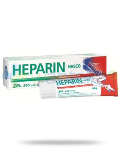 Heparin Hasco zel 250 j.m. 35 g