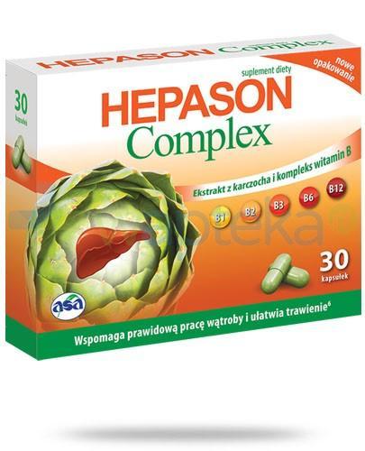 Hepason Complex ekstrakt z karczocha i kompleks witamin B 30 kapsułek