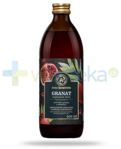 Herbal Monasterium Granat naturalny sok z granatu z witaminą C 500 ml