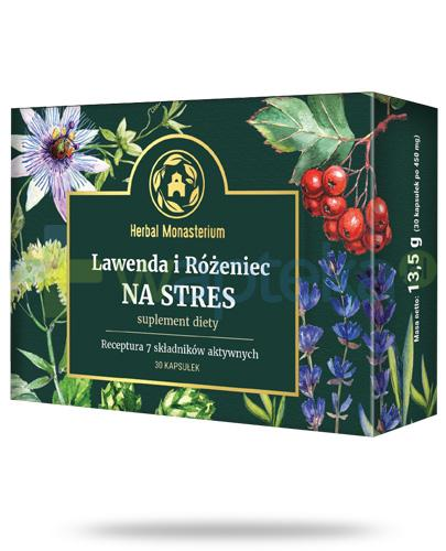 Herbal Monasterium Lawenda i Różeniec na stres 30 kapsułek
