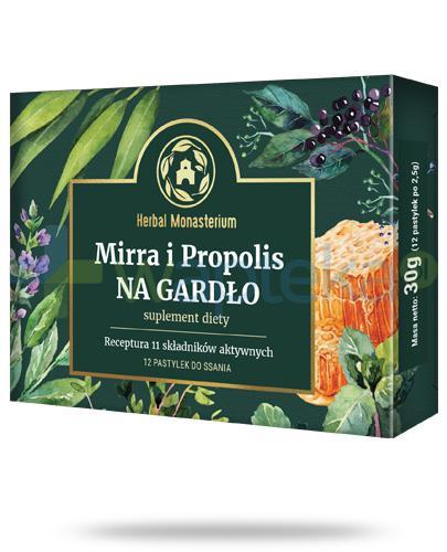 Herbal Monasterium Mirra i Propolis na gardło 12 pastylek