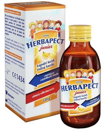 Herbapect Junior syrop na kaszel o smaku bananowym dla dzieci 120 g + Apitussic za 1grosz!