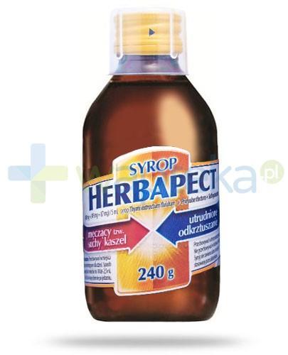 Herbapect (498 mg + 348 mg + 87 mg)/5ml syrop na kaszel 240 g
