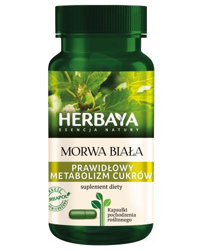 Herbaya Morwa Biała, prawidłowy metabolizm cukrów 60 kapsułek