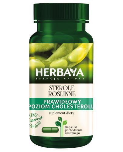 Herbaya Sterole roślinne, prawidłowy poziom cholesterolu 60 kapsułek
