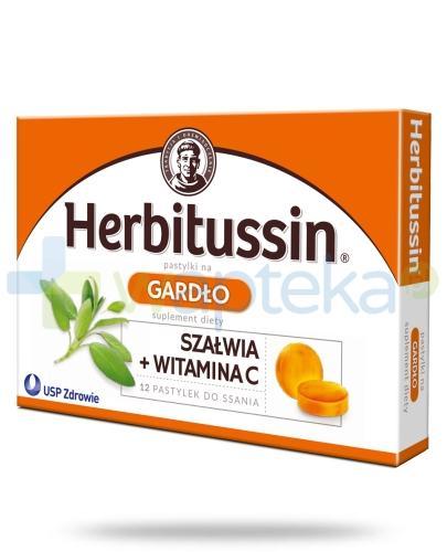 Herbitussin Gardło 12 pastylek do ssania