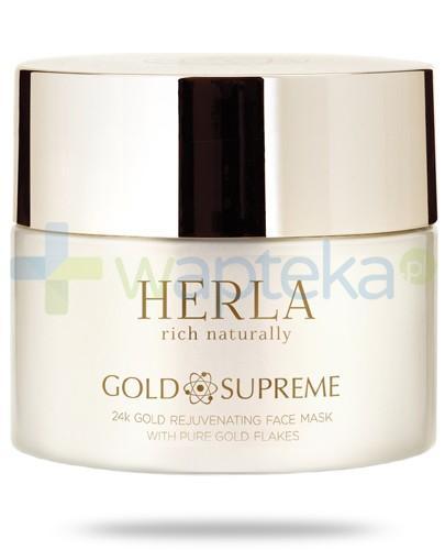 Herla Gold Supreme odmładzająca maska do twarzy z płatkami złota 50 ml