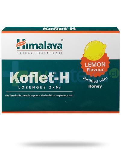 Himalaya Koflet-H Lemon, smak cytrynowy, pastylki do ssania 12 sztuk