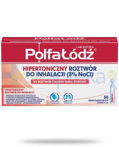 Hipertoniczny roztwór do inhalacji 3% NaCl Laboratoria Polfa Łódź 30x 4 ml