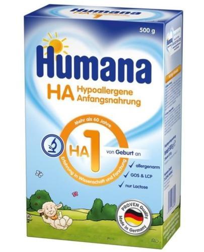 Humana 1 HA mleko modyfikowane początkowe od urodzenia 500 g