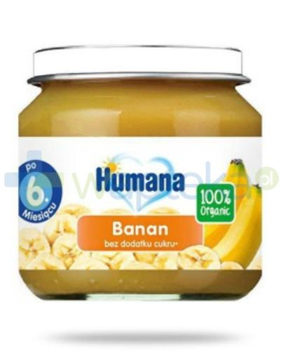 Humana 100% Organic Banan 6m+ 80 g [Data ważności 19-04-2019]