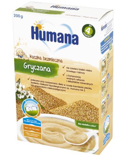 Humana 100% Organic kaszka bezmleczna gryczana 200 g