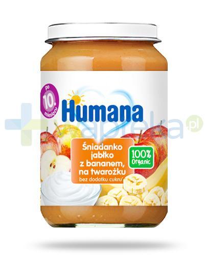 Humana 100% Organic śniadanko jabłko z bananem na twarożku dla dzieci 10m+ 190 g