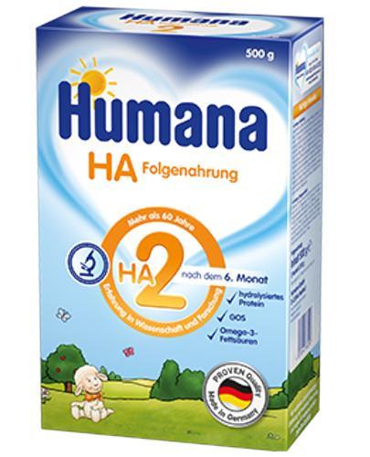 Humana HA 2 mleko modyfikowane następne dla dzieci 6m+ 500 g