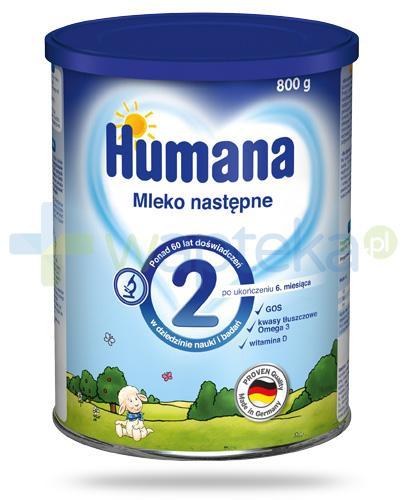 Humana 2 mleko modyfikowane następne dla dzieci 6m+ 800 g