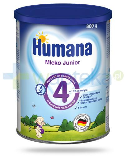 Humana 4 Junior mleko modyfikowane dla dzieci 24m+ 800 g