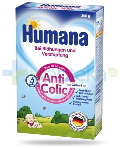 Humana AntiColic mleko modyfikowanne przeciw kolkom od urodzenia 300 g [Data ważności 14-10-2020]