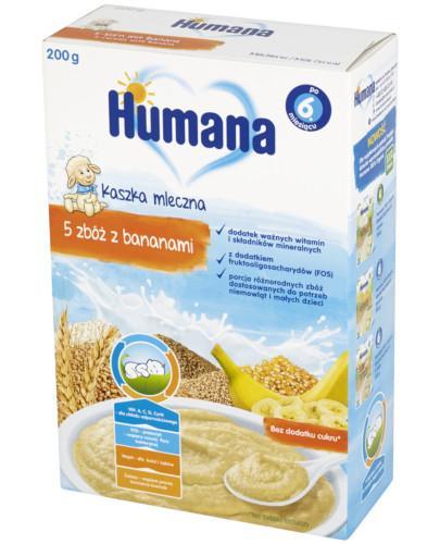 Humana Kaszka mleczna 5 zbóż z bananami 200 g - Data ważności 02-06-2017