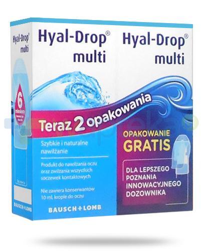 Hyal-Drop Multi krople do oczu 2x 10 ml [DWUPAK]