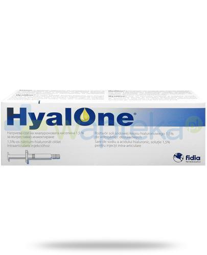 HyalOne kwas hialuronowy 1,5% do wstrzykiwań dostawowych 1 ampułko-strzykawka