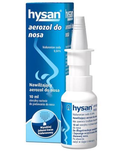 Hysan aerozol nawilżający do nosa 10 ml